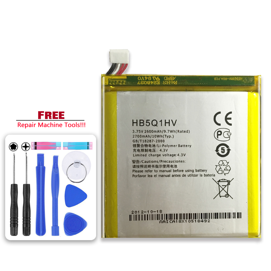 For Huawei Ascend P1 XL U9200E U9200S / D1 Quad XL U9500E U9510E T9510E HB5Q1HV Mobile Phone Replacement Battery 2600mAh(China)