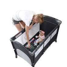 Новое обновление многофункциональным детская кроватка с большие
