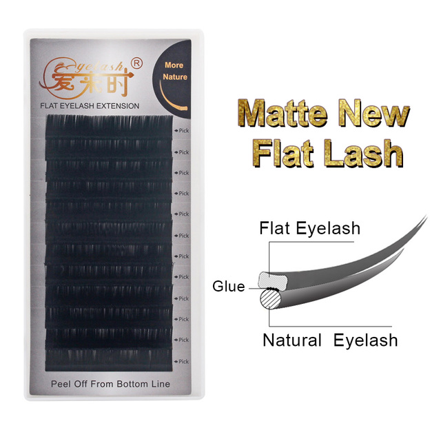 New Flat Eyelash Extensions Split Tips Ellipse Lashes Extensions Natural Soft Matte Flat Eyelashes Dropshipping