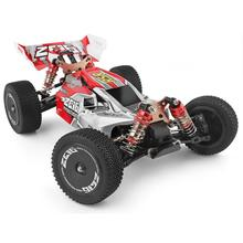 WLtoys  1/14 144001 RTR 2.4GHz RC Car Scale Drift Racing Car 4WD Metal Chassis Shaft Ball Bearing Gear Hydraulic Shock Absober lesu cnc metal chassis rail for 1 14 model rc hino 8 8 hydraulic dumper truck