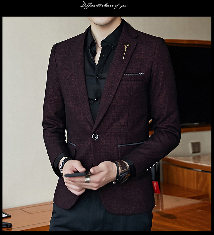 H393dc0a7eafd45b2b11fc34ac668f80fa - Striped Blazer Mens Slim Fit Blazer Slim Masculino Business Casual Mens Stylish Blazer Spring Autumn Dot  Striped Blazers Mens