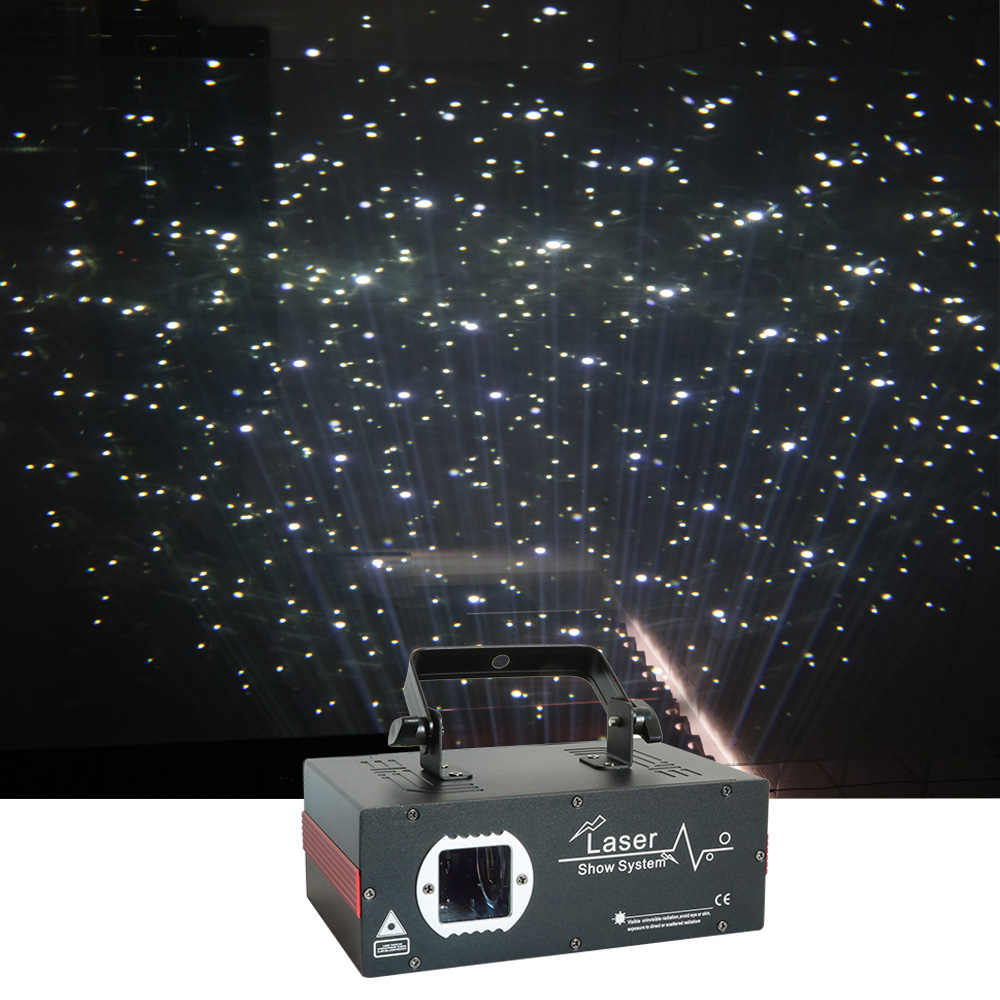 Sharelife Mini 2W Night Sky White Stars Universe Laser Projector DMX DJ Home Party Wedding Stage Lighting Effect Snow Christmas