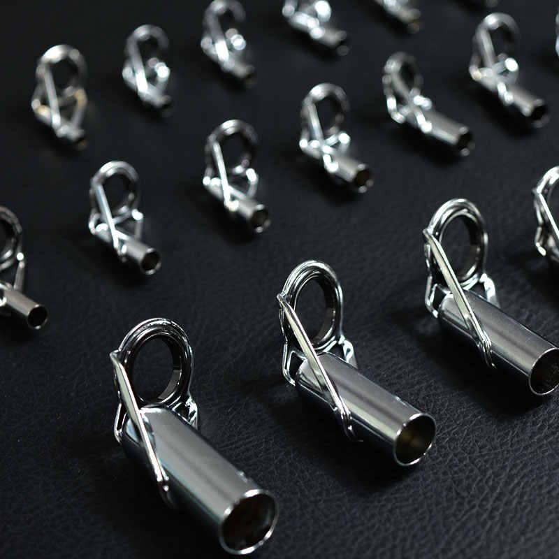 1x anillos de guías de caña de pescar telescópicas de gran tamaño 2,4mm-3,0mm-5,0mm-10mm caña de pesca en roca Marina anillos de Punta DIY Accesorios de reparación