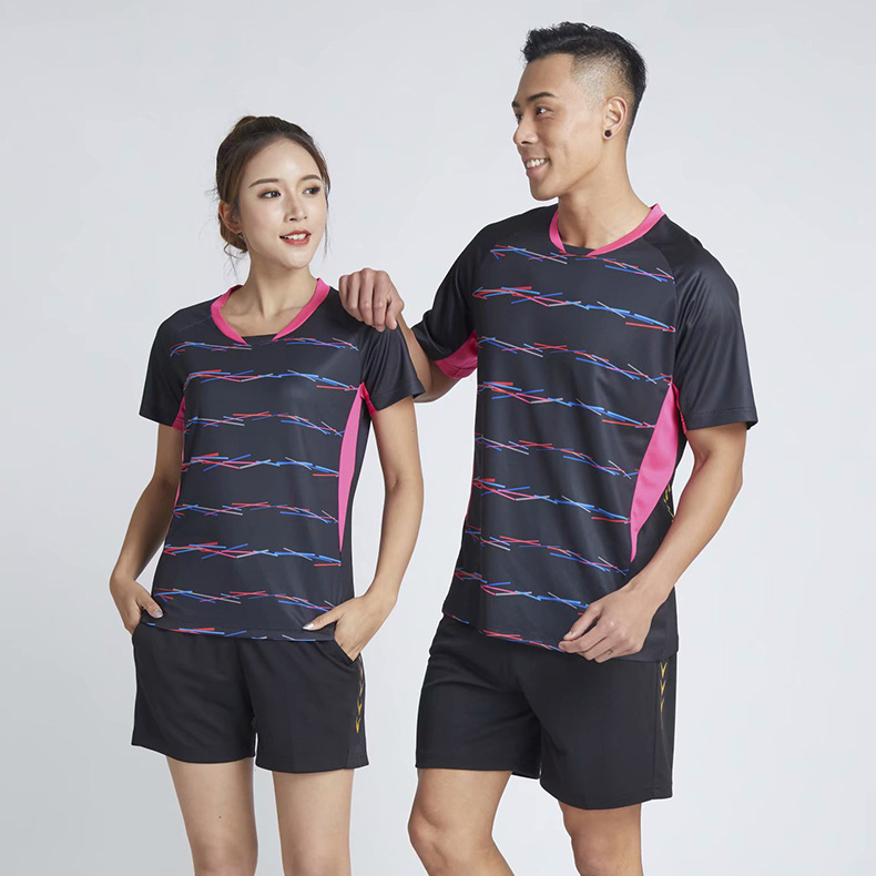 2019 New Style Short Sleeve Table Tennis Wear Set Men And Women Children Running Fitness Training Suit Quick-Dry Jersey Racing S