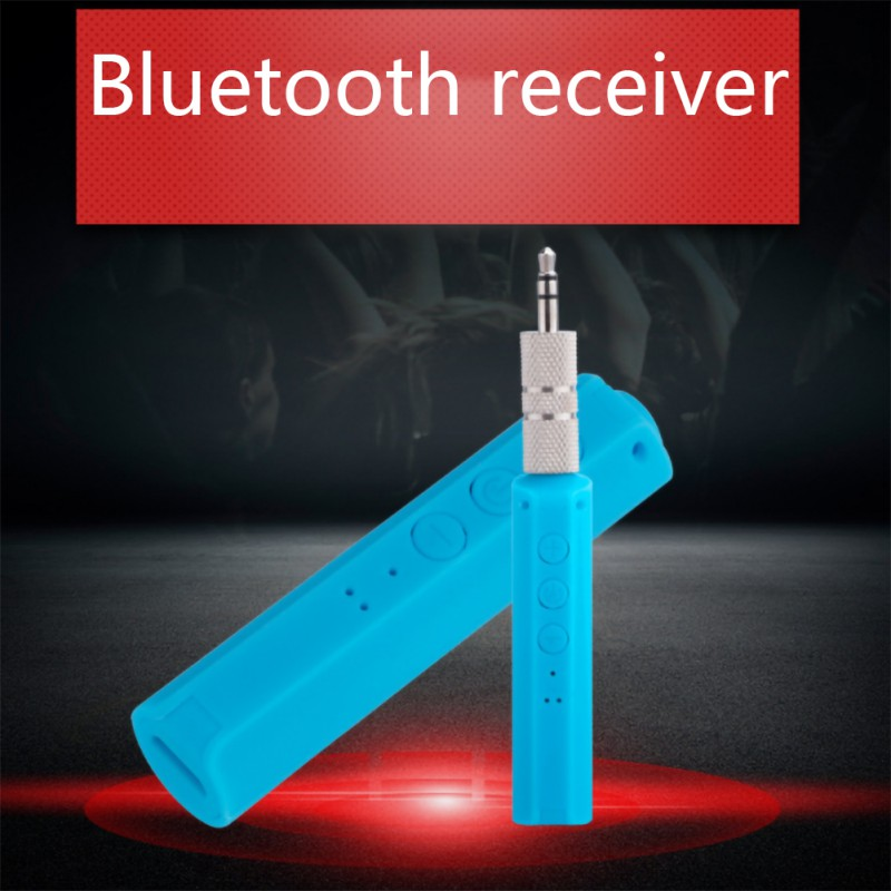 Casque d'écoute de voiture quatre couleurs livrent aléatoirement un récepteur Bluetooth Portable adaptateur Audio sans fil Aux 3.5mm pour l'audio à la maison