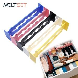 5 Colors Adjustable Retractable Wardrobe Drawer Divider Storage Clapboard Multi-purpose DIY Organizer Separators For Home Office
