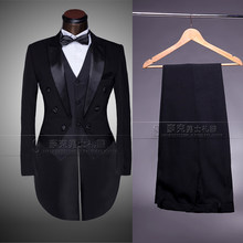 Manufacturers wholesale price formal tuxedo costume dress married suit Male piece set high qualtiy plus size XS -6XL(China)