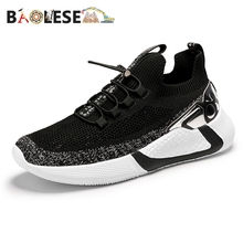 BAOLESEM Summer Man Casual Shoes Lace up Men Shoes Couple Walking Sneakers Lightweight Breathable Man Mesh Shoes High Quality zanvllchy men shoes 2018 summer soft breathable men casual shoes lace up high quality couple flat mesh ultra boost tenis shoes