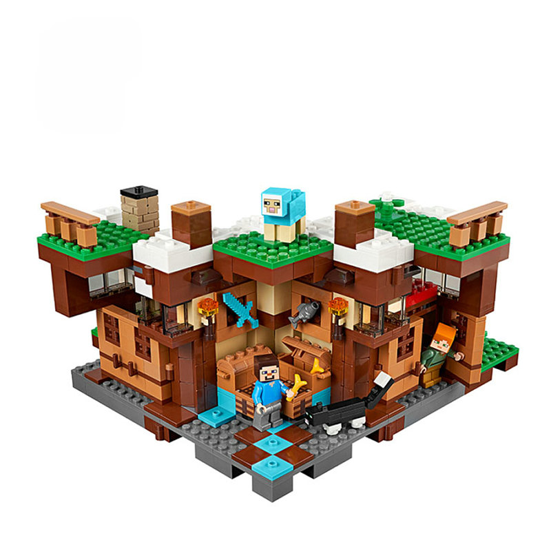 The Waterfall Base Building Blocks With Steve Action Figures Compatible LegoINGlys MinecraftINGlys Sets Toys 21134 5