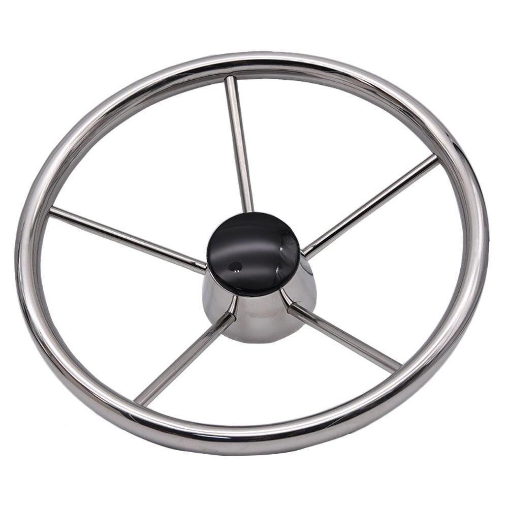 "Boat Steering Wheel Aluminum Alloy 3 Spoke 12.4/"" 3//4/"" Marine Yacht Wheel DIY"
