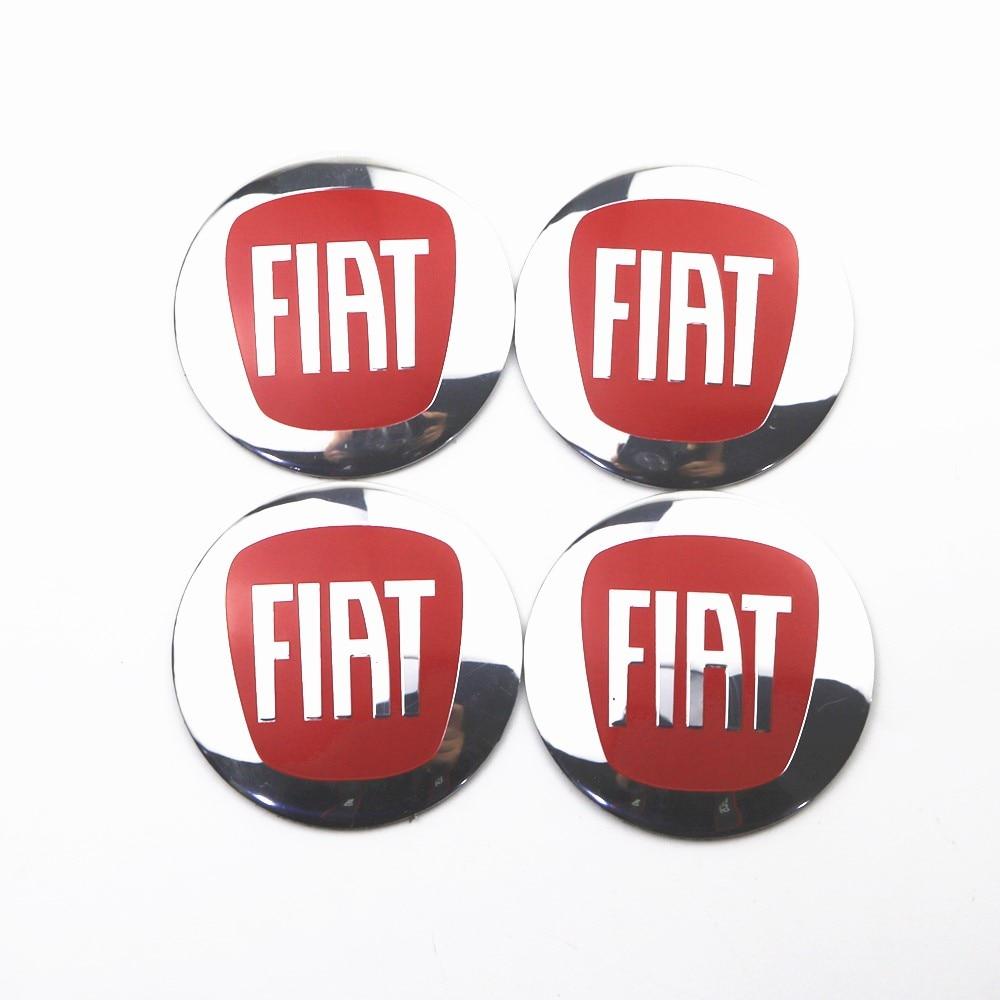 4Pcs Wheel Center Hub Cap Stickers 56.5mm Emblems For Fiat 500 Punto Bravo Stilo Panda Car Styling
