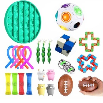 Fidget Toys Anti Stress Toy Set Stretchy Strings Mesh Marble Relief Gift for s Girl Children Sensory Stress Relief Toys
