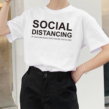 2020 distância social se você pode ler isso você está muito perto impresso mulher tshirts plus tamanho social distanciamento engraçado camisetas
