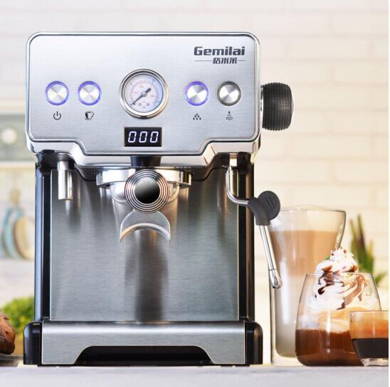 GEMILAI CRM3605 Coffee Machine Home Italian Semi-automatic 15bar Pump Steam Type Black Esspress Milk Foamo Cafe Free Shipping