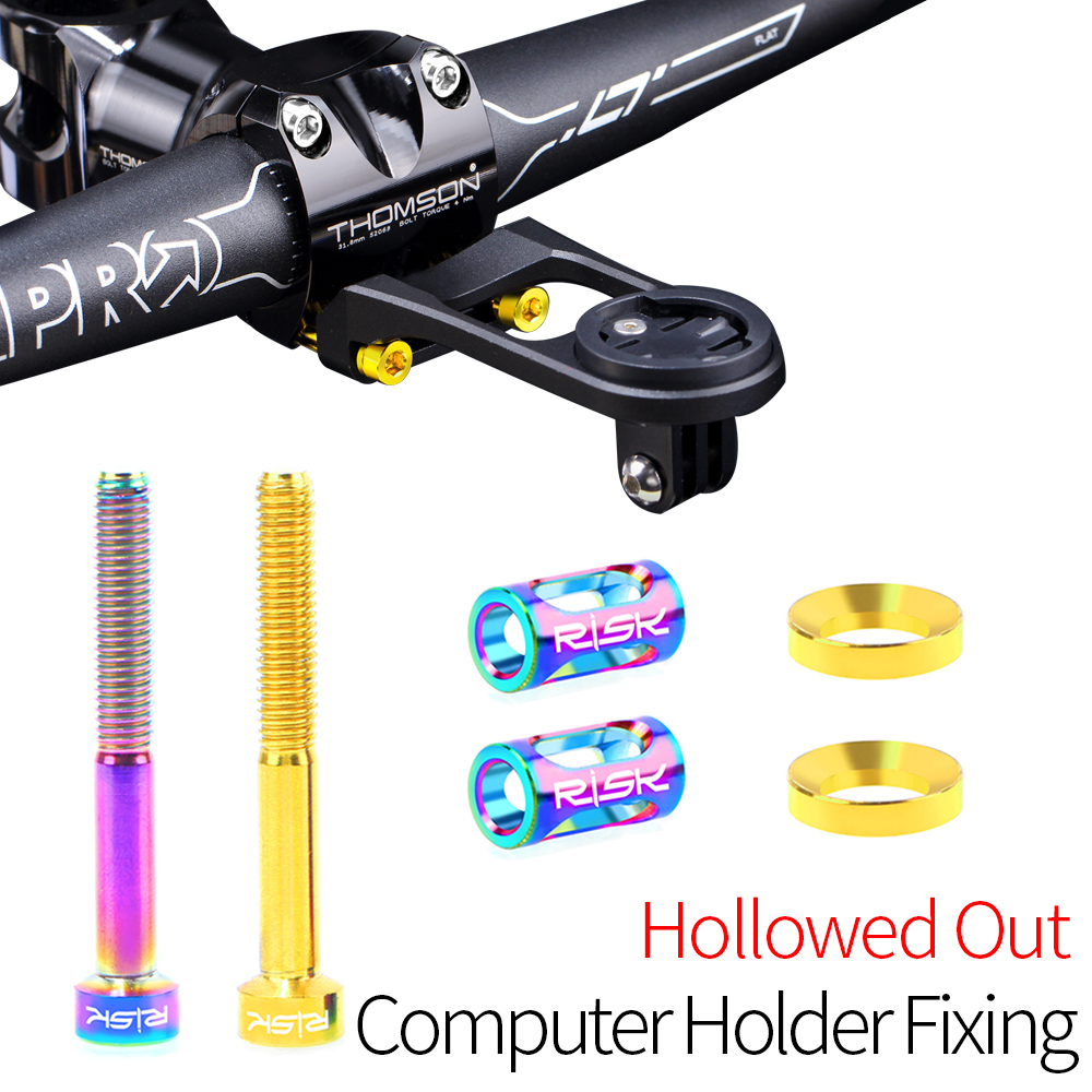 RISK Bike Computor Mount Holder Fixing Bolts Screws Set For Bicycle Camera Odometer Speedometer Stem Extension Support Holder