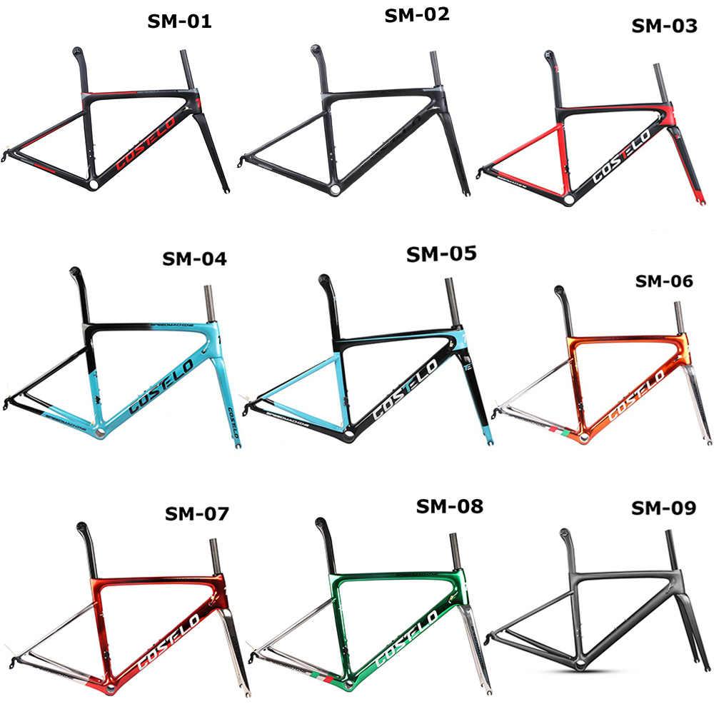 2018 Costelo Speedmachine 3.0 ultra hafif 790g karbon yol bisiklet iskeleti Costelo bisiklet bicicleta çerçeve karbon fiber ucuz çerçeve