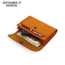 クレジットカード財布本革ハンドメイド ID バスナンバーカードバッグ男性牛革ミニウエストバッグコイン財布女性小さな財布