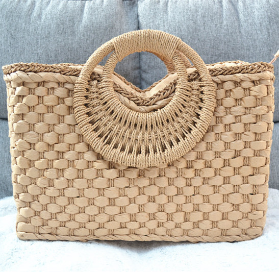 Ladies straw bag luxury handbag rattan grass Casual Shoulder crossbag ladies beach basket bag original brand designer 2020 new|Top-Handle Bags| - AliExpress