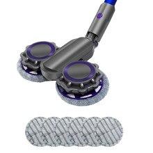 Escova elétrica cabeça mop pano acessório para dyson v7 v8 v10 v11 casa handheld aspirador de pó peças reposição mop
