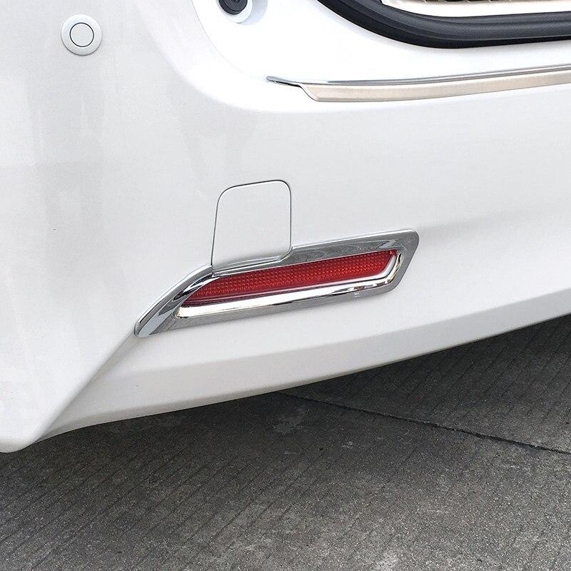 Car Accessories ABS Chrome Tail Rear Fog Light Lamp Cover Trim 2pcs For Toyota Alphard AH30 2016-2019