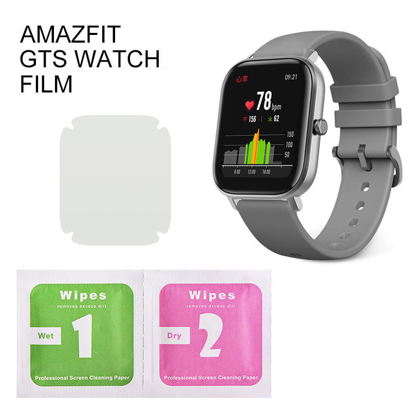 1/2/5Pcs Protective Film For Amazfit GTS Series Smart Watch Wristband Full Screen Protector Hydrogel Film Not Tempered Glass