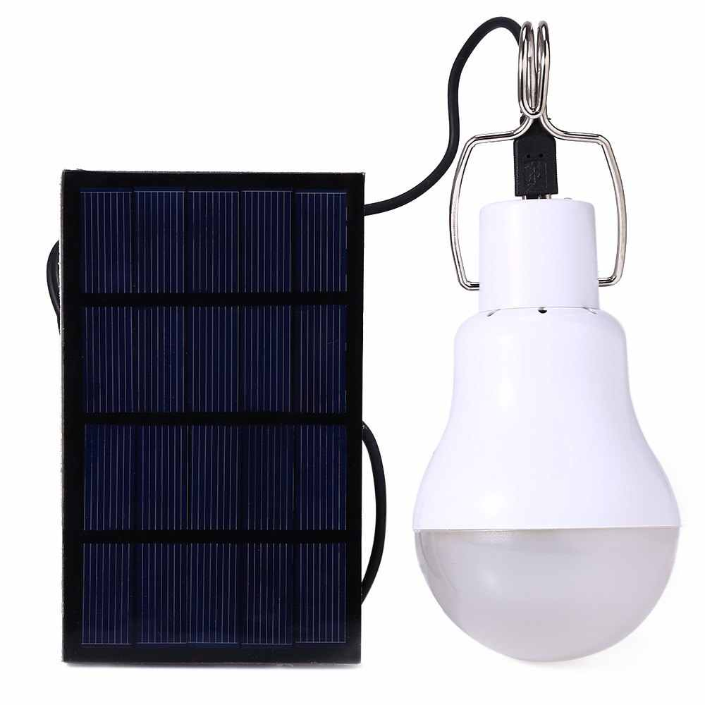 130LM Solar Lampe Powered Tragbare Led-lampe Licht Solar Energie Lampe Led Beleuchtung Solar Panel Camp Zelt Nacht indoor Angeln licht