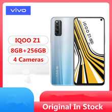 "DHL تسليم سريع فيفو IQOO Z1 5G هاتف محمول Mediatek 1000 Plus أندرويد 10.0 6.57 ""144hz 8GB RAM 256GB ROM 48.0MP 44W شاحن(China)"