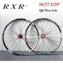 """RXR 26 """"27.5"""" 29 """"MTB אופניים הרי גלגל אופני זוג גלגלי 7 11 מהירות קדמי אחורי רים wheelsets Fit Shimano SRAM קלטת"""