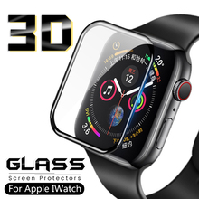 3D Tempered Glass For Apple Watch Series 1 2 3 4 anti Scratch Screen Protector Protective Film For iwatch 44mm 40mm 38mm 42 mm tempered glass 3d full coverage protector for apple watch 4 curved screen edge protective film for iwatch series 40mm 44mm