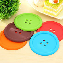 Novo multifuncional redondo resistente ao calor de silicone tapete botão copo coasters antiderrapante pote titular mesa placemat cozinha ferramentas acces