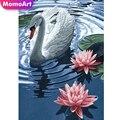 MomoArt 5D алмазов картина Лебедь Алмазная мозаика камни в форме ромба животных DIY картина Стразы Вышивка крестом домашний декор