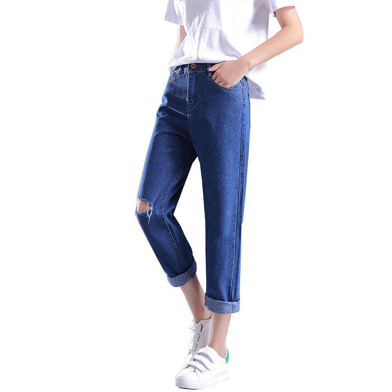 2020 neue Sommer Casual Stil Hohe Taille Baumwolle Koreanische Pluderhosen Frauen Peant Loch Lose Oversize Breite Bein Hosen Freies Verschiffen