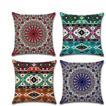 Bohemian Mandala Geometric Throw Pillow Covers 45*45cm kussenhoes Pillowcase housse de coussin Decorative Sofa Car Cushion Cover