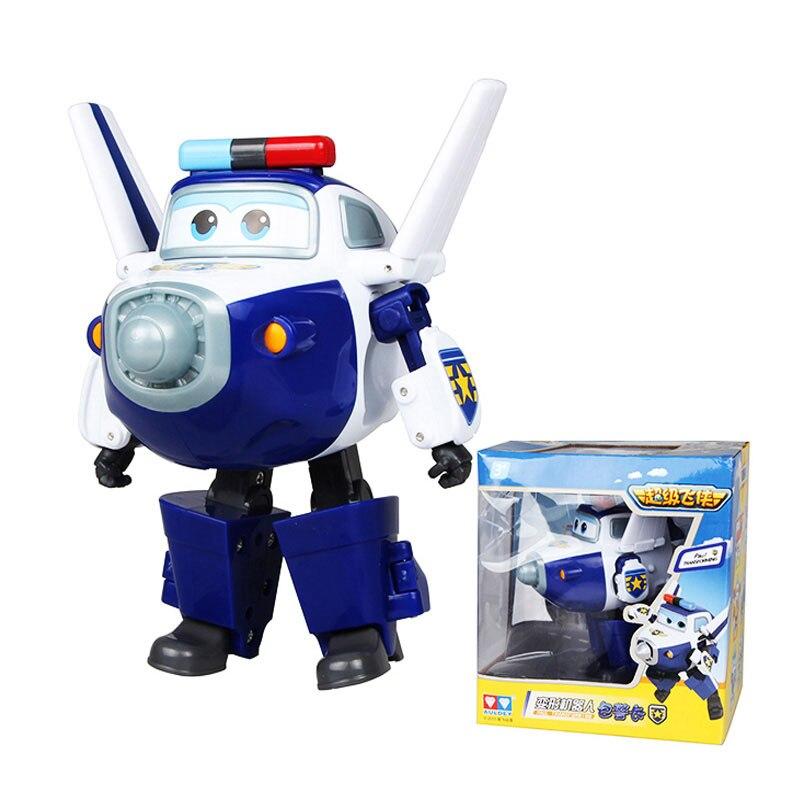 Большой! 15 см ABS Супер Крылья деформация самолет робот фигурки Супер крыло Трансформация игрушки для детей подарок Brinquedos - Цвет: With Box PAUL