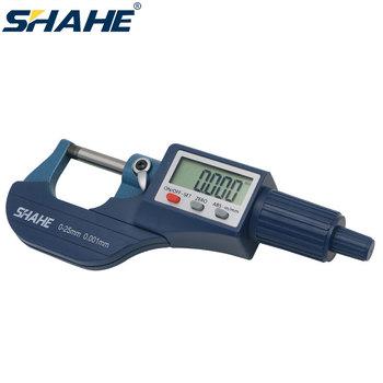 SHAHE 0-25mm duży ekran cyfrowy mikrometr 0 001mm elektryczna suwmiarka cyfrowa mikrometr cyfrowe narzędzia pomiarowe tanie i dobre opinie CN (pochodzenie) Metalworking Rohs 5202-25 DIGITAL Mikrometry zewnętrzne + -0 003