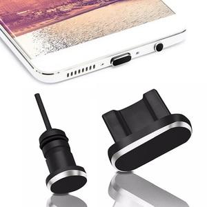Новое поступление, 2 шт./компл., металлический зарядный порт + порт для наушников, запасная Пылезащитная заглушка для Android, мобильный телефон, ...