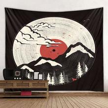 Черный гобелен в стиле бохо Ловец снов настенный подвесной искусственный