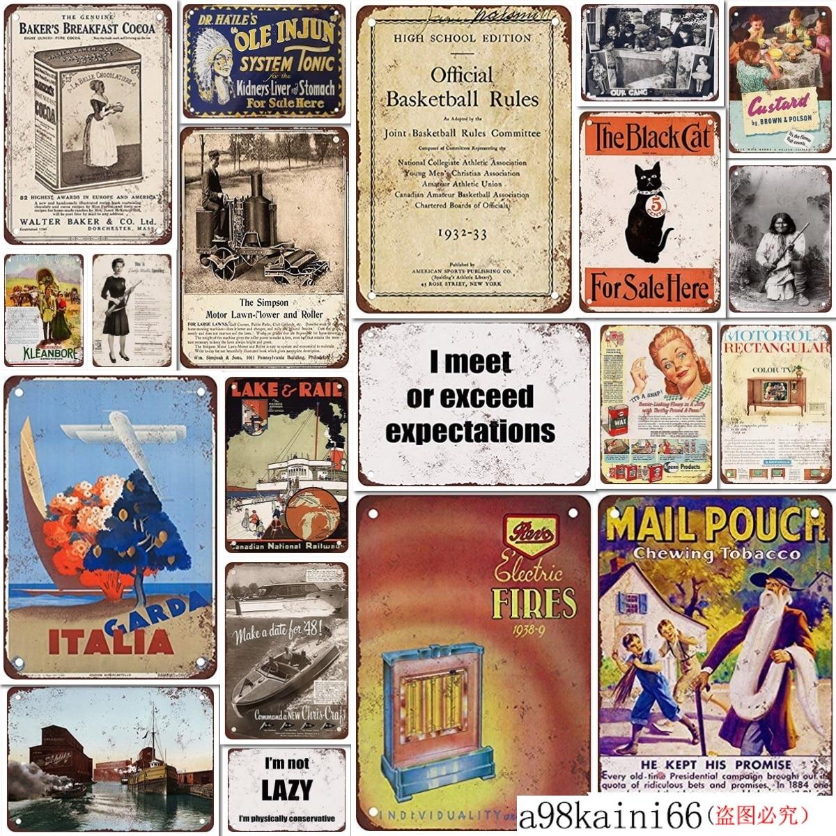 See Europe Vintage Look Reproduction Metal Sign