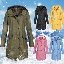 2019 Basic Jackets Female Women Windproof Long Hooded Coats Cotton Fashion Autumn Warm Winter Jacket Outwear Coat