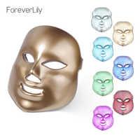 Foreverlily LED Gesichts Maske 7 Farbe Licht Photon Ziehen Poren Haut Verjüngung Anti Akne Falten Entfernung Therapie Schönheit Salon