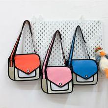 Handbag Women Crossbody-Bag Paper Shoulder New-Fashion Comic Drawing 3D 2D Cartoon