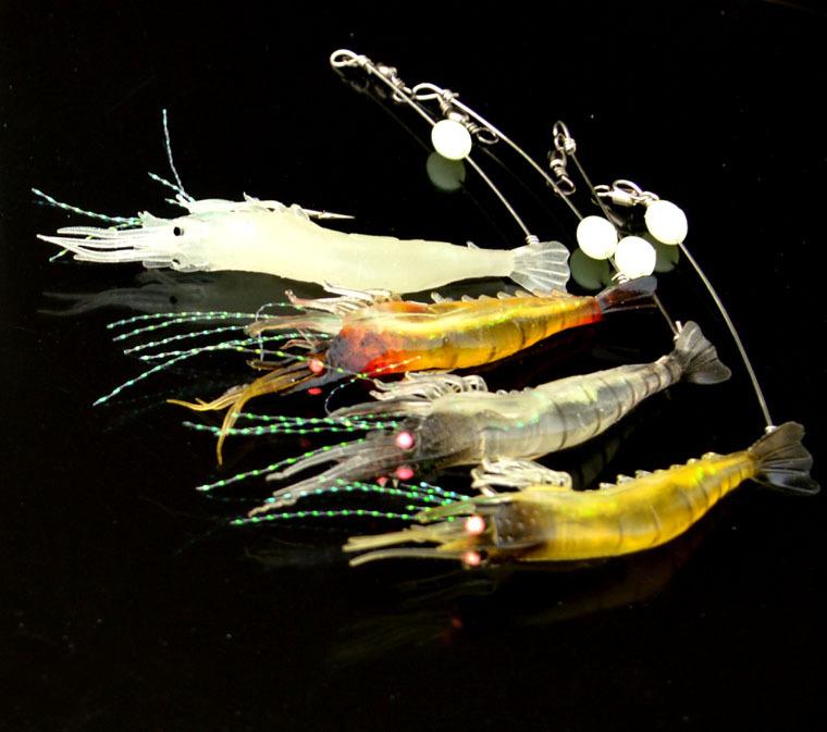 1pcs Luminous Prawn Shaped Floating Fake Artificial Hook Fishing Lure Bait