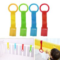 Baby Bed Portable Crib Stand Up Multi-color Wake Up Hook Pull Ring Foldable Pendants Toys