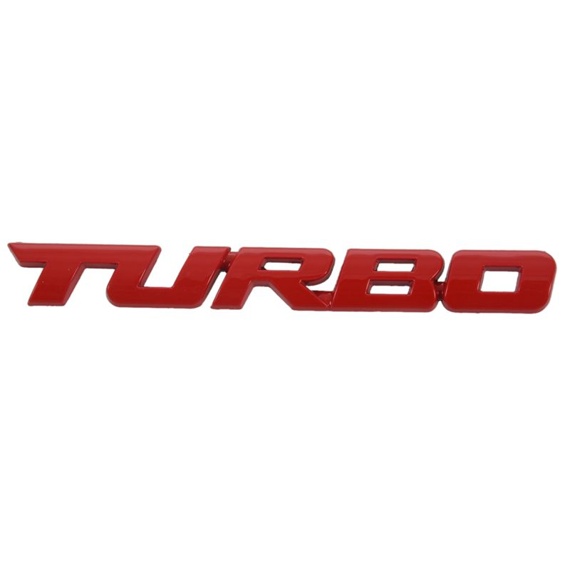 TURBO Universal Car Motorcycle Auto 3D Metal Emblem Badge Decal Sticker