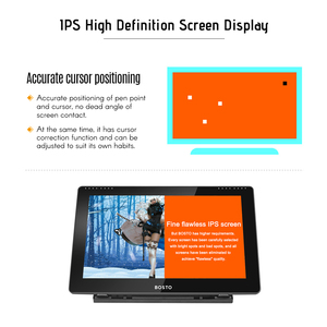 Image 5 - BOSTO BT 16HD IPS HD Graphic Monitor Drawing Digital Tablet Passive Technology USB Powered 8192 Pressure Level Pen Touchscreen