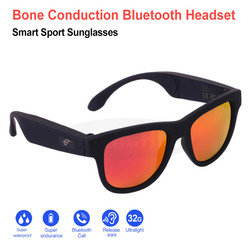 Smart Sunglasses Sport Bone Conduction Bluetooth Sunglasses Wireless Stereo Music Sunglasses Sports Headset Headphone