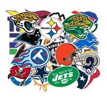 32pcs/pack Rugby teams logo applies to suitcase skateboard car waterproof stickers DIY refrigerator wallpaper PVC