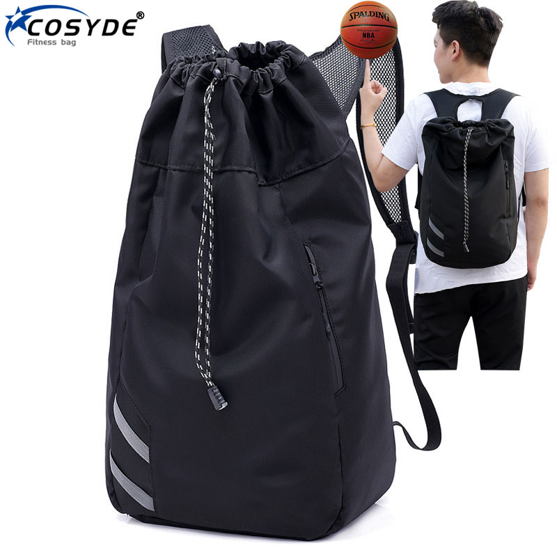 Мужская футбольная Большая вместительная школьная сумка для хранения спортивного зала, баскетбольный рюкзак с кулиской, мячи, водонепроницаемое ведро для спорта на открытом воздухе, путешествий-0