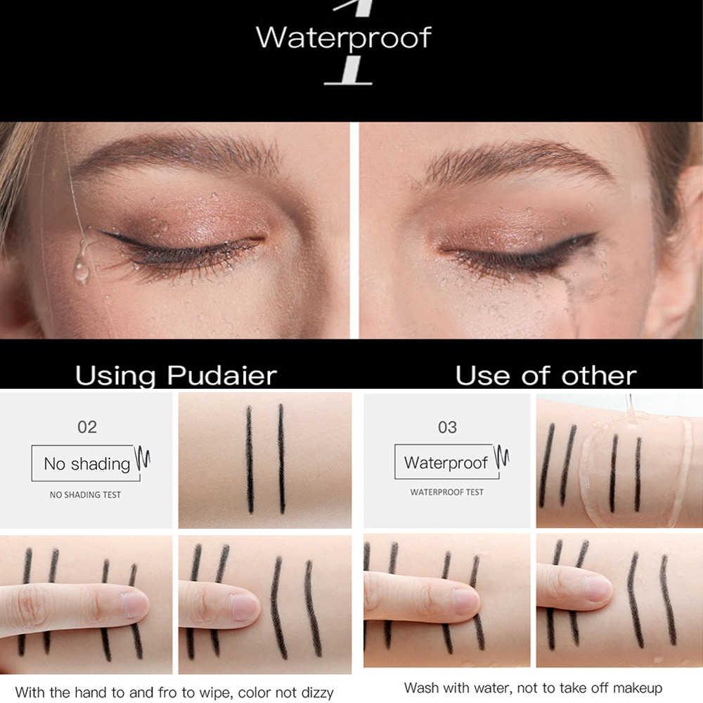 Pudaier Thoáng Mát Đen Kẻ Mắt Bút Chì Lỏng Mắt Lớp Lót Chống Thấm Nước Từ Trang Điểm Mắt Bền Phụ Nữ Mỹ Phẩm Làm Đẹp Dụng Cụ