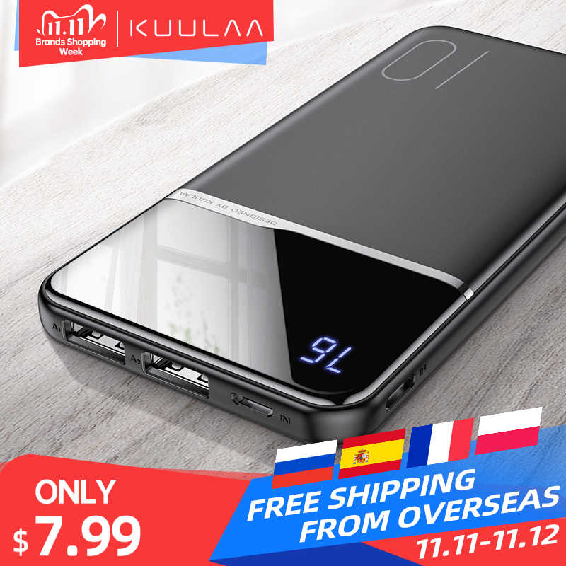 Kuulaa Power Bank 10000 Mah Draagbare Opladen Powerbank 10000 Mah Usb Poverbank Externe Batterij Oplader Voor Xiaomi Mi 9 8 iphone